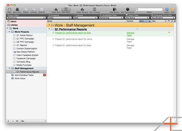 OmniFocus Advanced: Sequential Projects