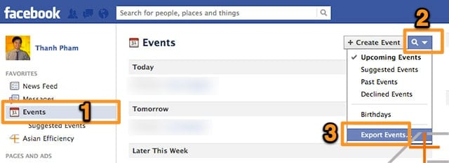 Sync Facebook Events with iCal