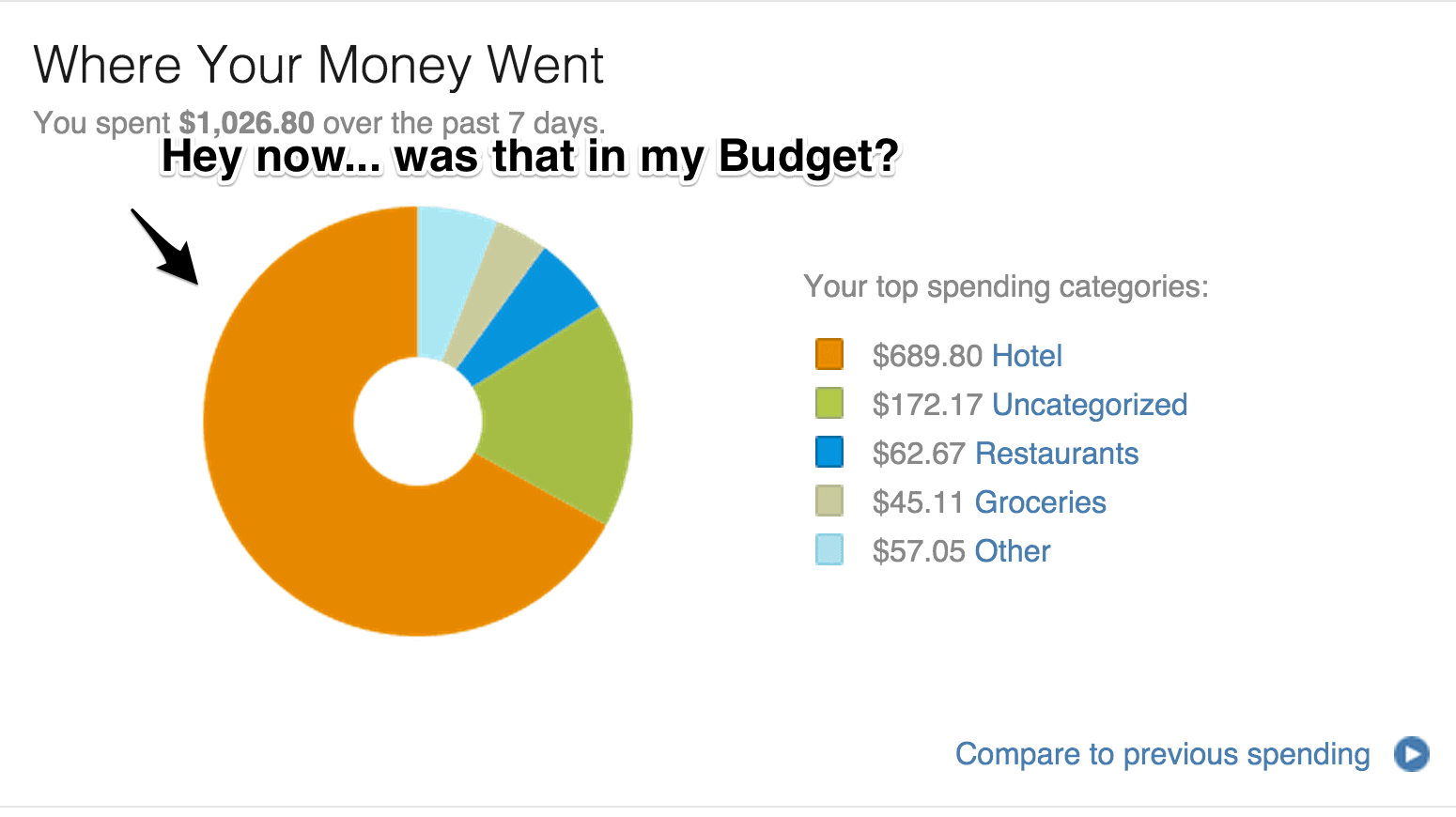 mint weekly budget
