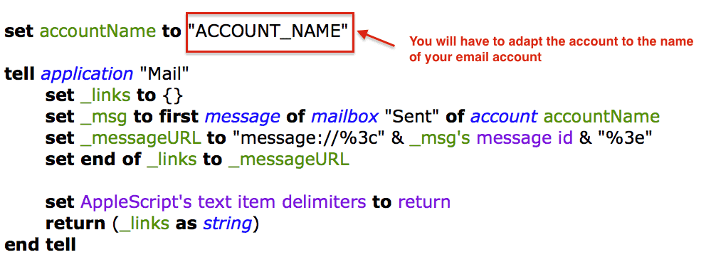 Adapt lmail snippet part 1