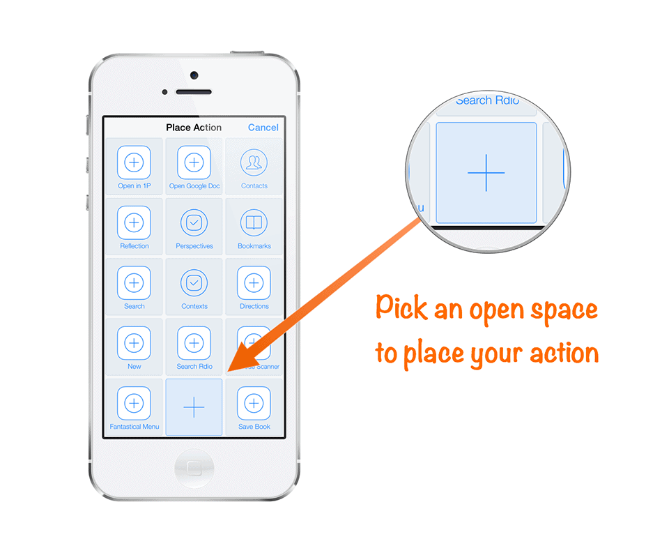 Save your Workflow as an Launch Center Pro action